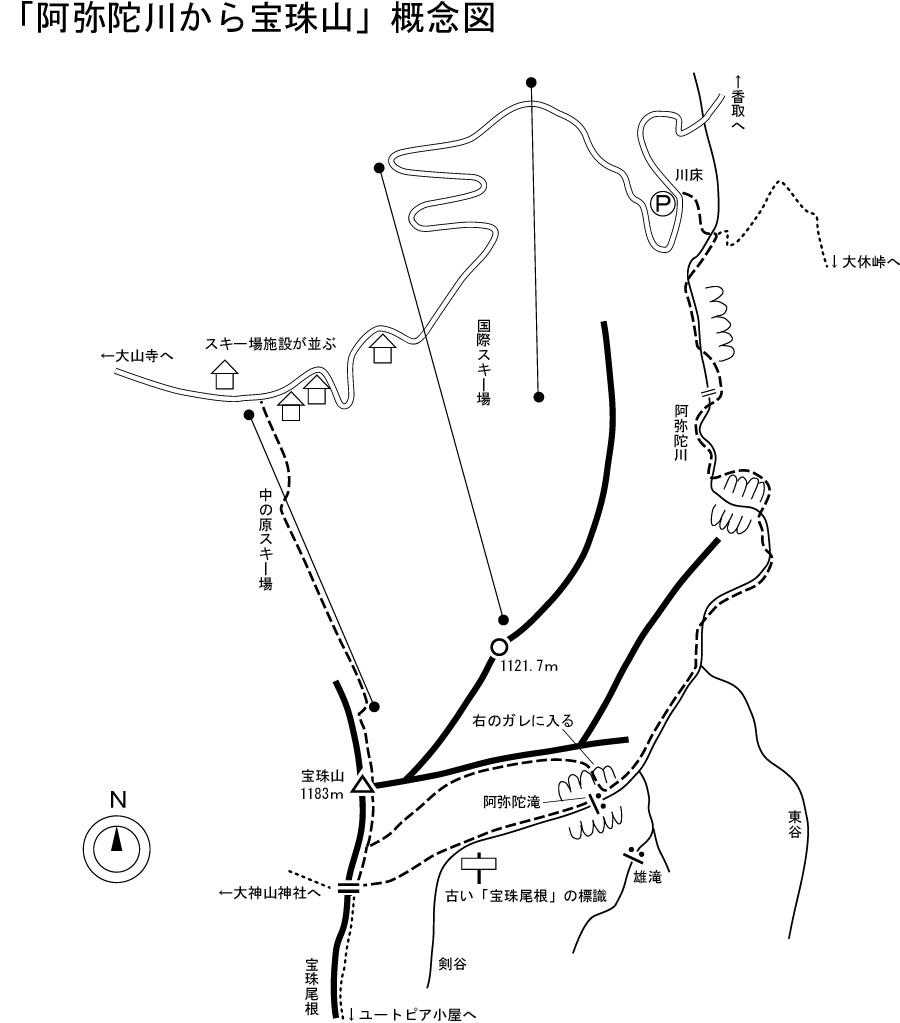 宝珠山 地図