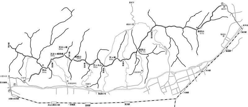 出雲北山 地図