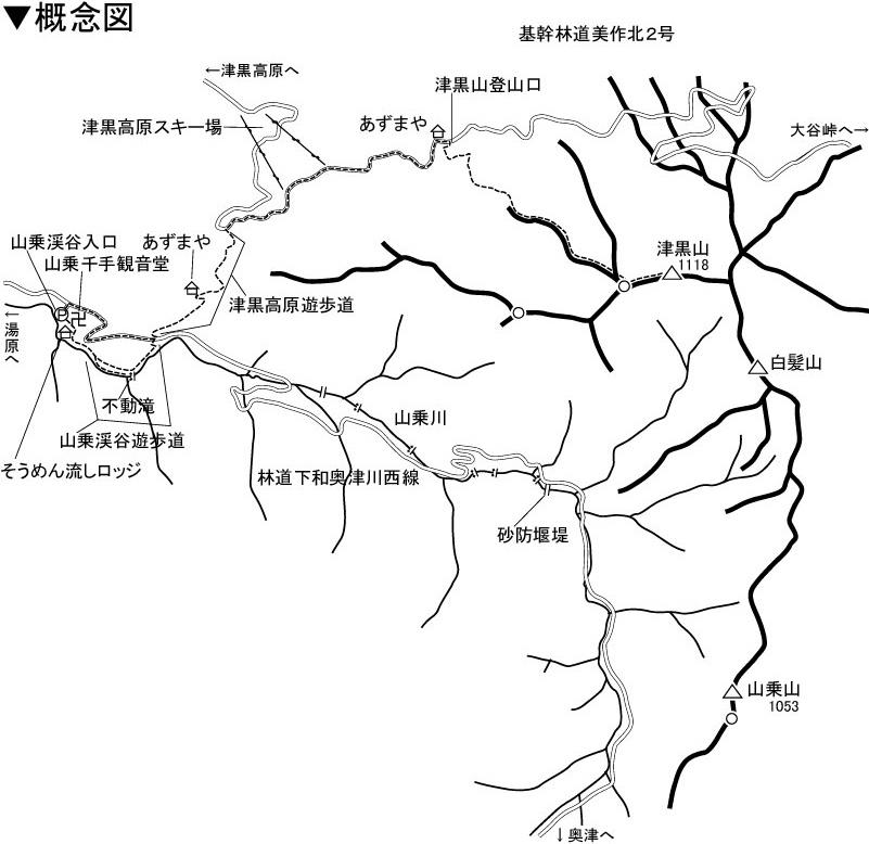 津黒山 地図